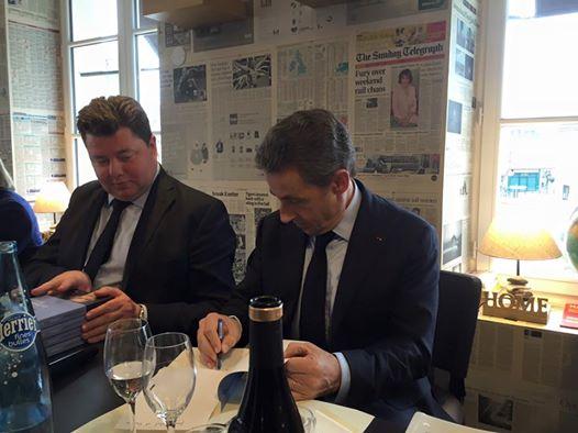 Déjeuner débat avec Nicolas Sarkozy