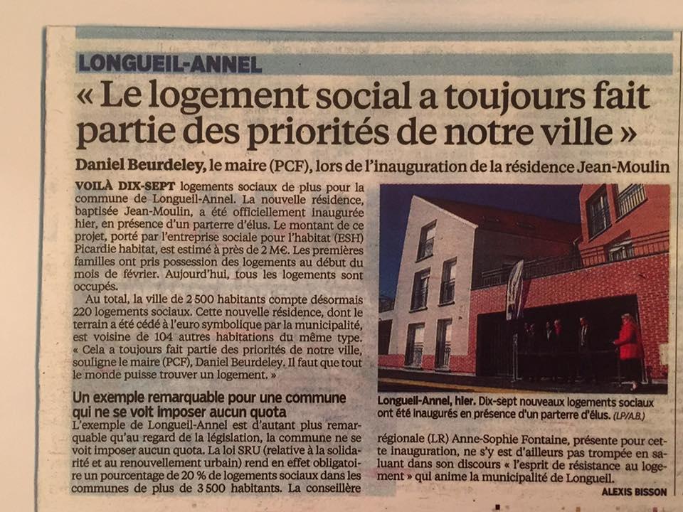 Inauguration de la résidence Jean Moulin 4