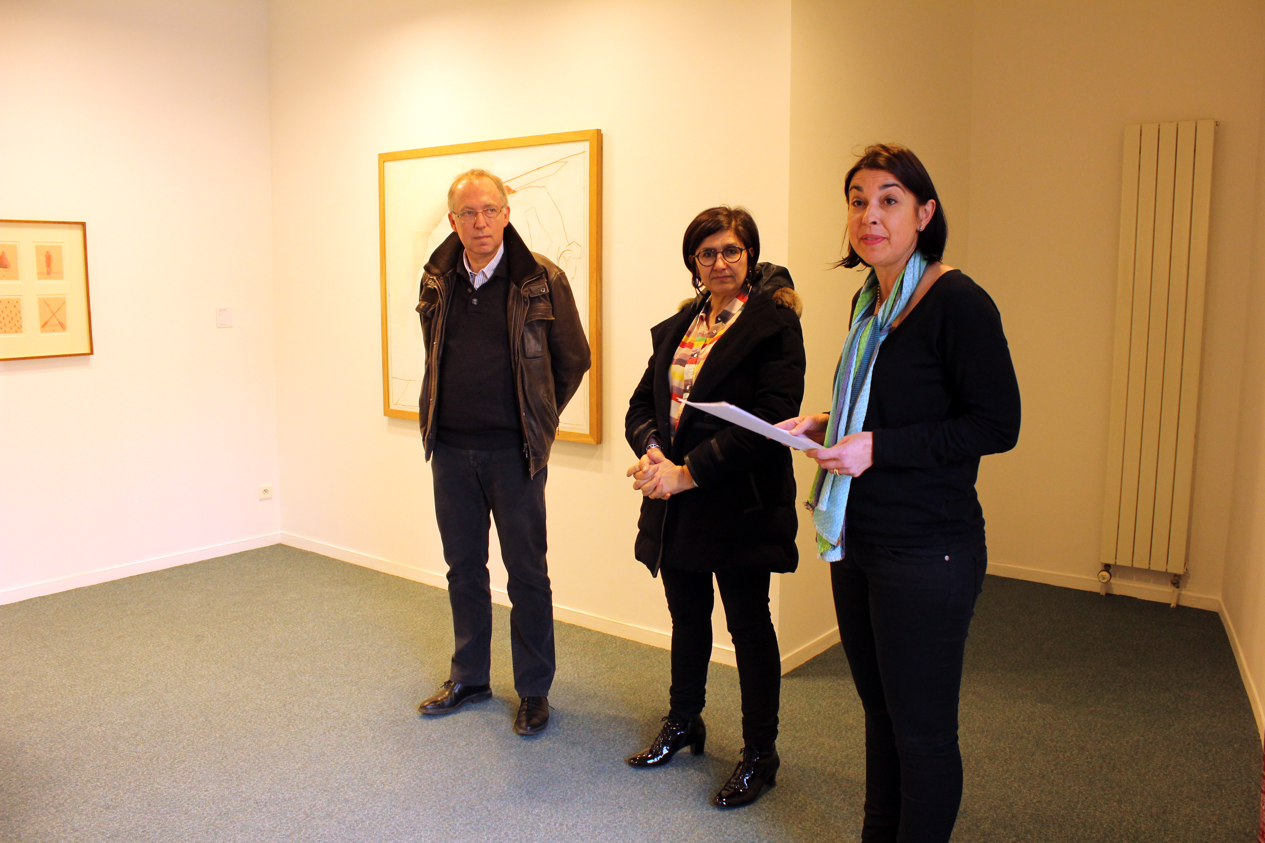 Vernissage de l'exposition du Frac à Noyon