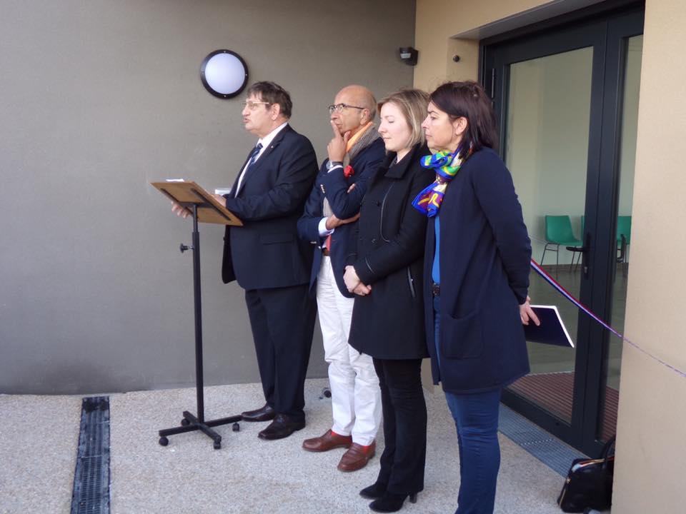 A l'inauguration de la maison des associations sportives de Grandfresnoy 1