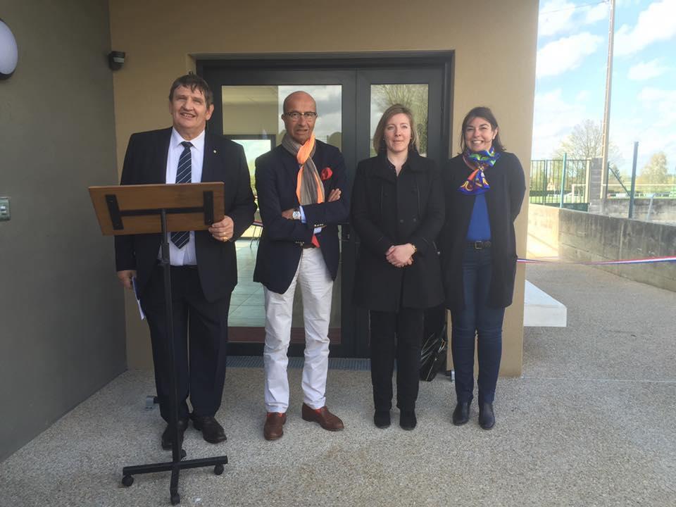 A l'inauguration de la maison des associations sportives de Grandfresnoy 2