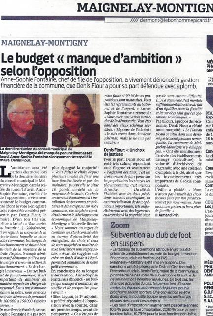 Debat sur le budget 2015 à Maignelay-Montigny 1