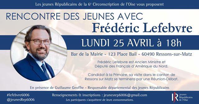 Réunion débat avec Frédéric Lefebvre