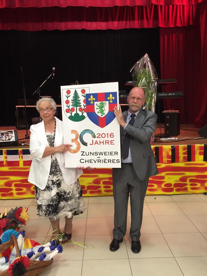 Au 30ème anniversaire du jumelage entre Chevrières et Zunsweier