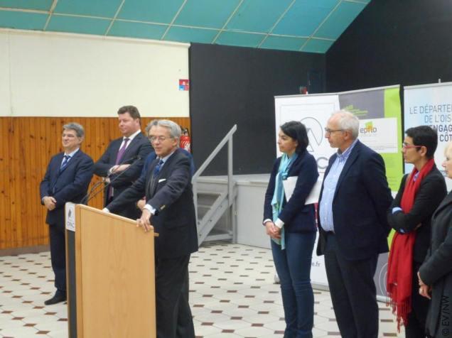 Inauguration avec Edouard Courtial, Président du Conseil Départemental de l'Oise 2