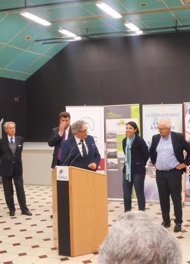 Inauguration avec Edouard Courtial, Président du Conseil Départemental de l'Oise 3