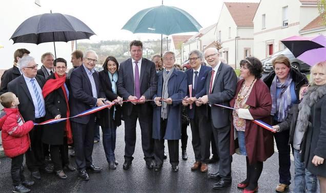 Inauguration avec Edouard Courtial, Président du Conseil Départemental de l'Oise