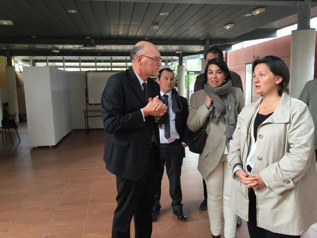 Visite au lycée Jean Racine de Montdidier