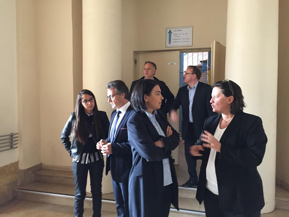 Visite du lycée Jeanne Hachette à Beauvais 1