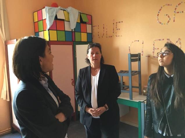Visite du lycée Jeanne Hachette à Beauvais 2