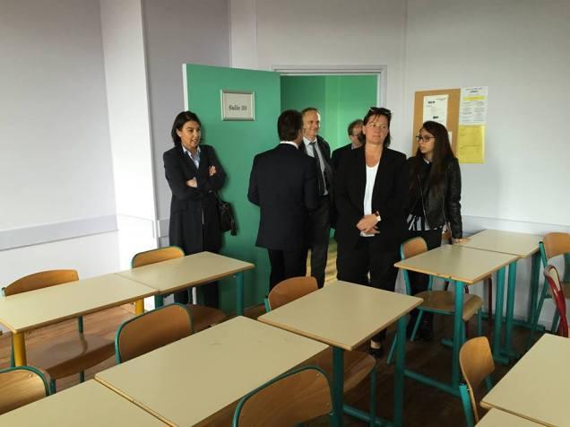 Visite du lycée Jeanne Hachette à Beauvais 3