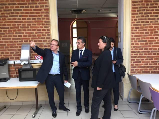 Visite du lycée Jeanne Hachette à Beauvais 4