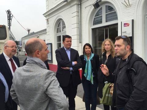 A la rencontre des usagers à la gare de St-Just-En-Chaussée