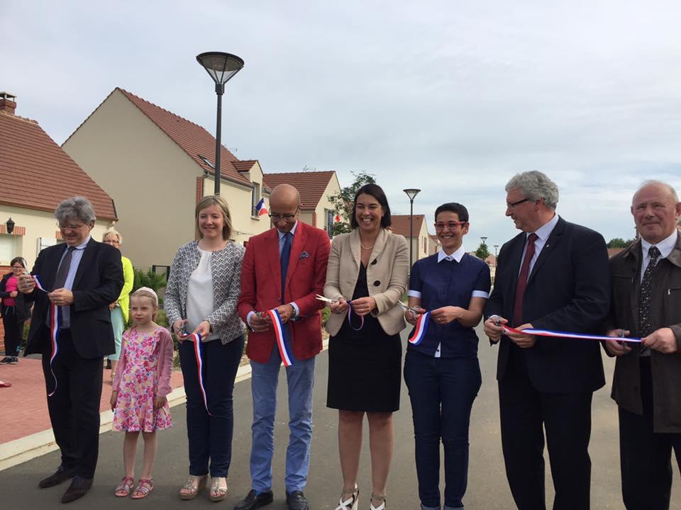 A l'inauguration des logements au clos des Mailles à Ressons-sur-Matz 1