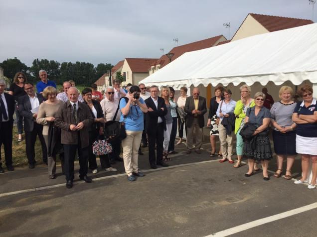 A l'inauguration des logements au clos des Mailles à Ressons-sur-Matz 2
