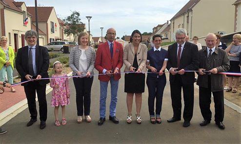 A l'inauguration des logements au clos des Mailles à Ressons-sur-Matz
