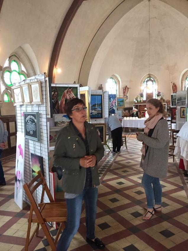 Exposition de peinture à l'église du Ployron 1