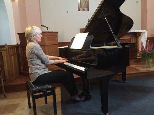 LA pianiste Sophia Vaillant en visite en Picardie