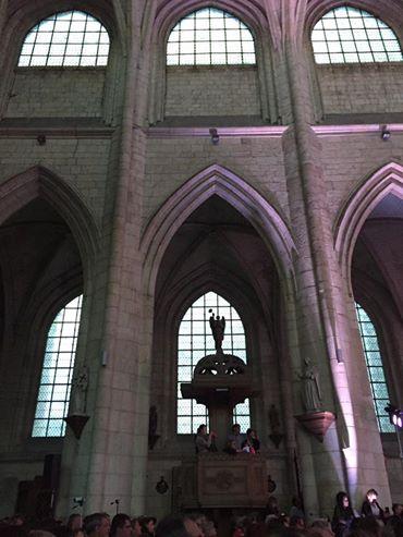 A la chorale de l'abbatiale Saint Pierre de Corbie