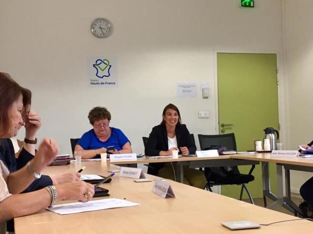 En commission des finances à Amiens au Conseil Régional Hauts-de-France