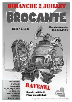 A la brocante de Ravenel avec Olivier Dassault