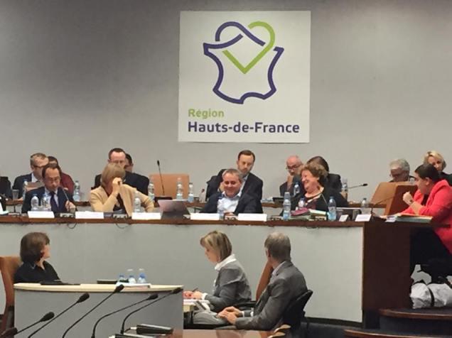 Travail en commission permanente au conseil régional Hauts-de-France 1