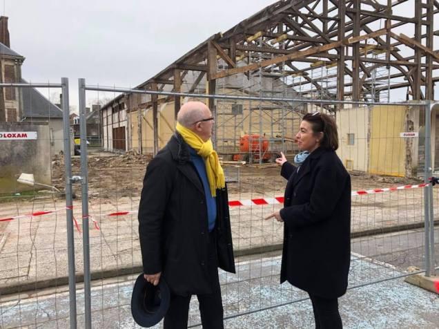 Réunion de travail avec Jean Desessart à Lacroix-Saint-Ouen